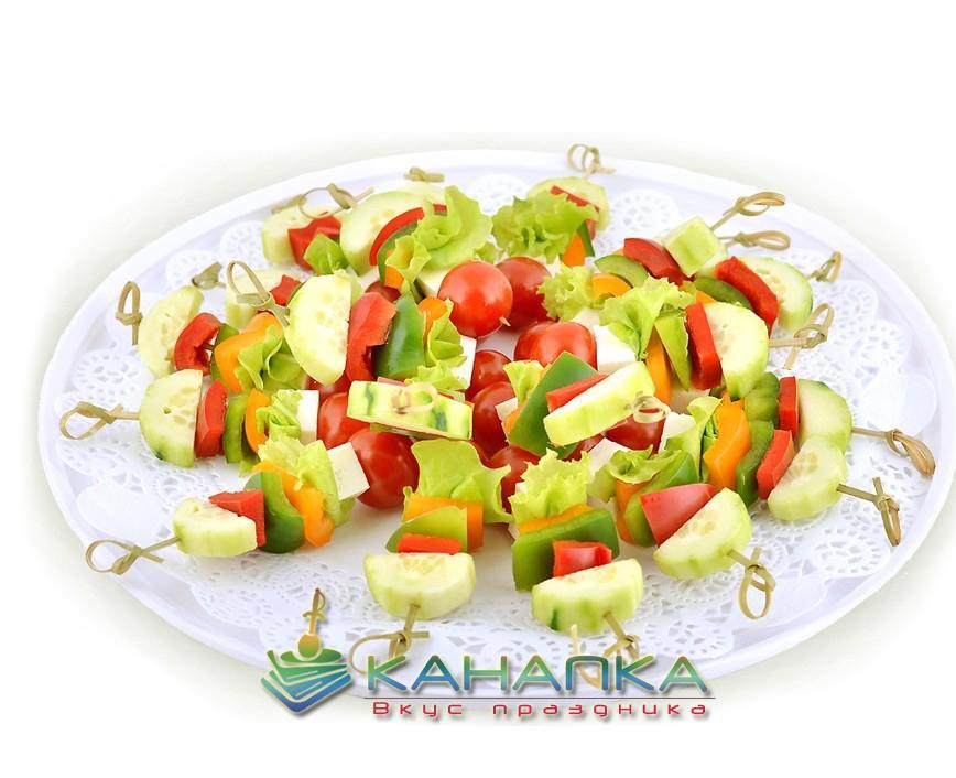 Канапе сет «Овощные шпажки по-гречески» — 20 шт.