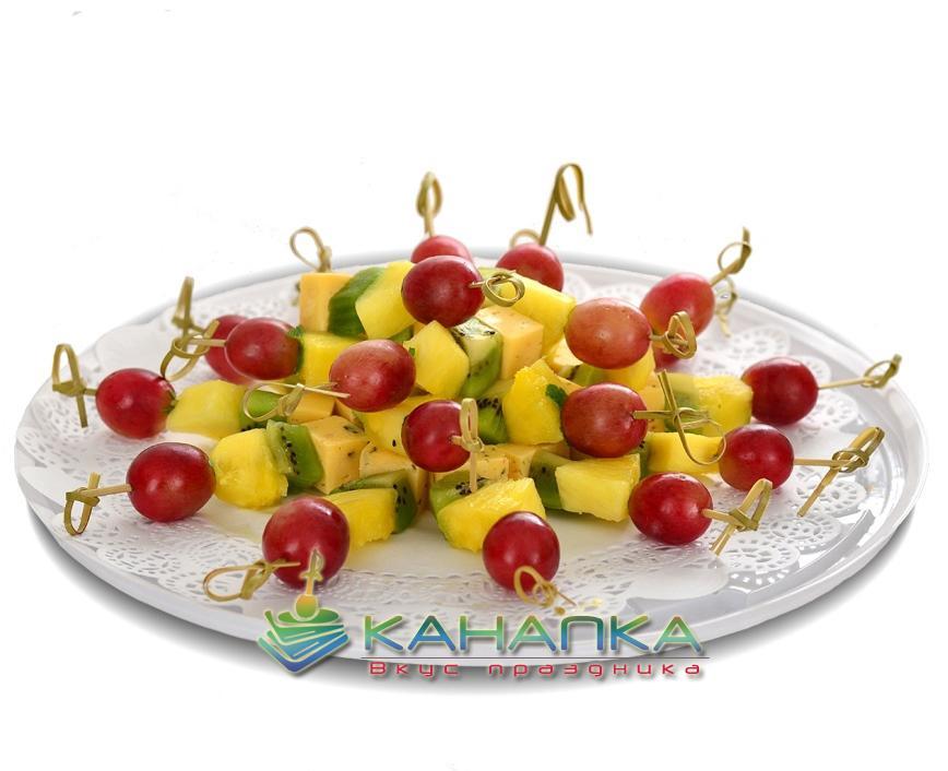 Канапе сэт с сыром и фруктами — 20 шт.