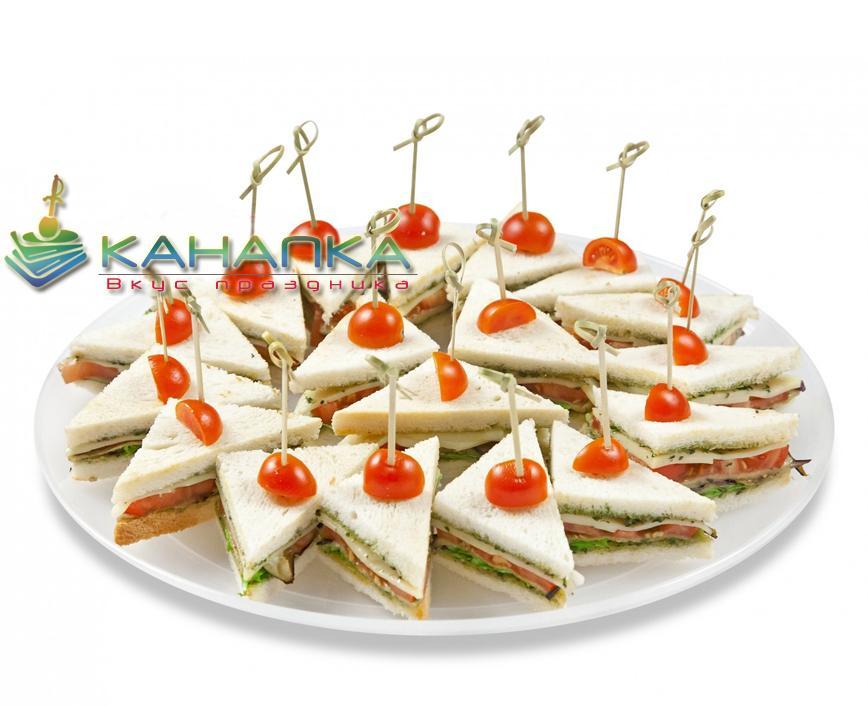 Сэндвич с сыром и овощами — 15 шт.