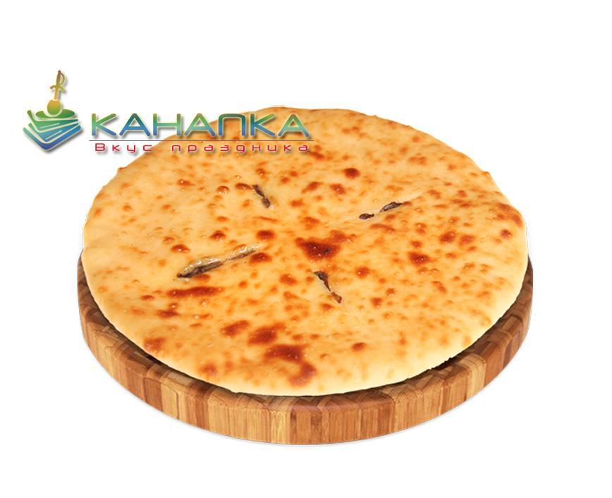 Осетинский пирог «С семгой сыром и зеленью»