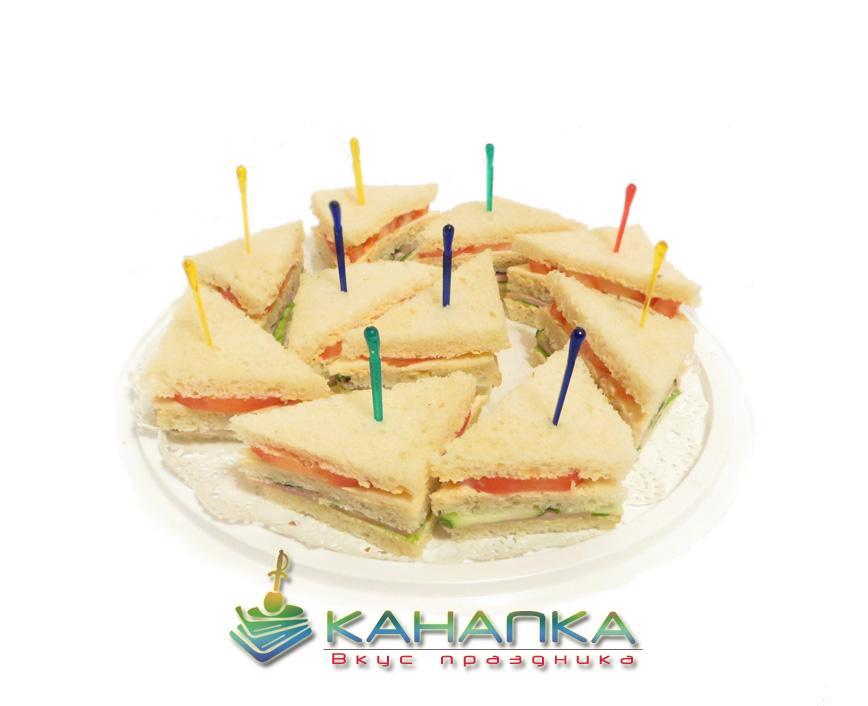 Сэндвич с ветчиной и сыром- 10 шт.