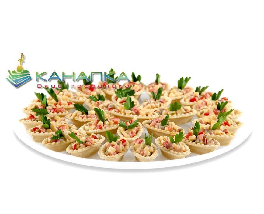 Мини тарталетки с салатом «Восторг» — 25 шт.