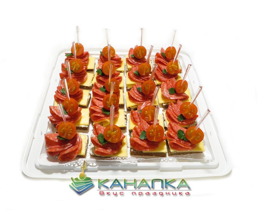 Канапе сэт «Канапе с салями и сыром Гауда» — 20 шт.