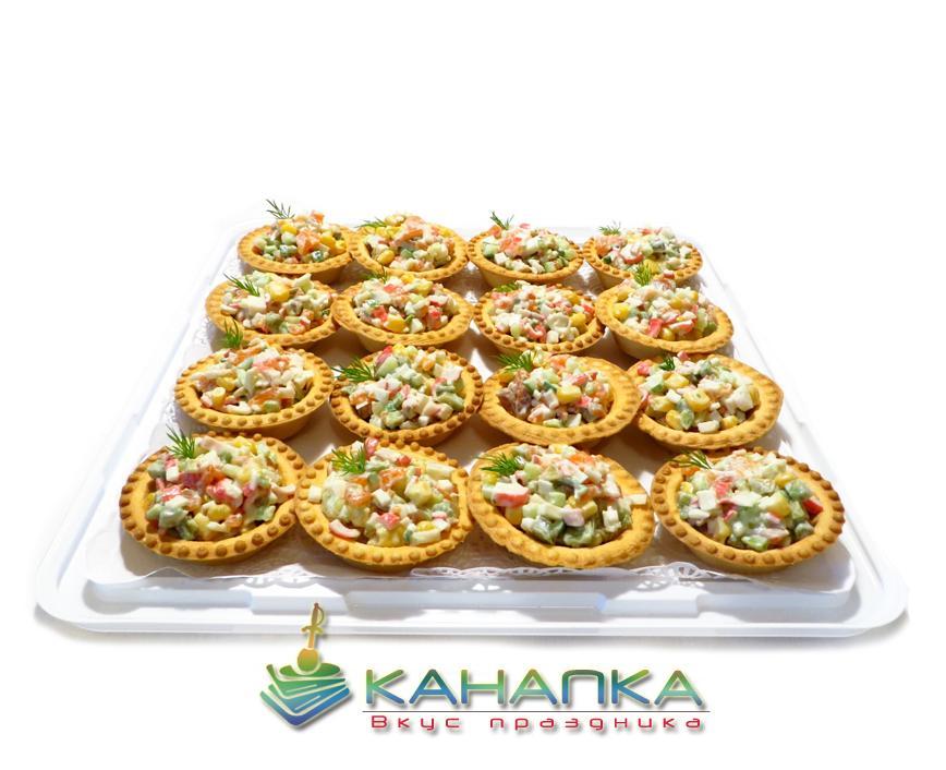 Тарталетки с салатом «Крабовый» — 16 шт.