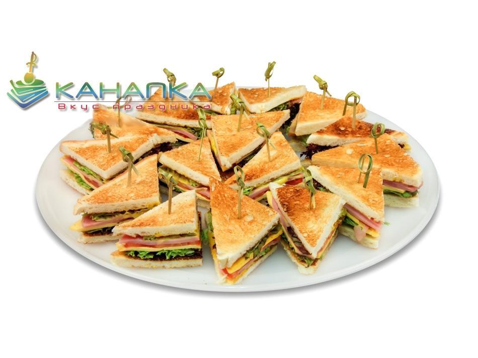 Сэндвич на поджаренном тосте — 16 шт.