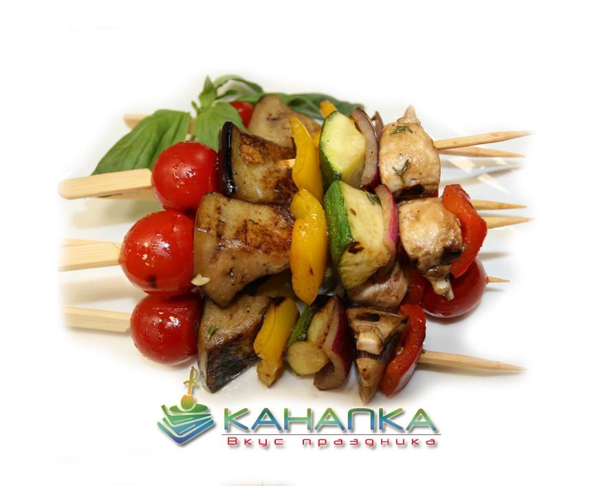 Овощной шашлычок на бамбуковой шпажке